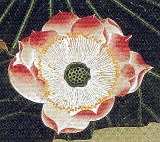 伊藤若冲 Ito Jakuchu 蓮池遊魚図  Renchi Yugyo-zu(Lotus Pond and Fish)