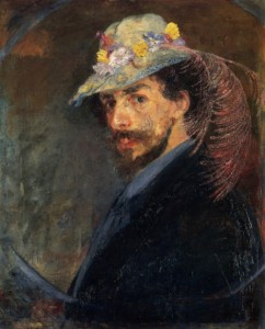 1883-James-Ensor-Ensor-with-the-flowered-hat--498x618