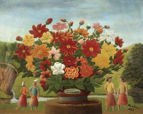 Andre-Bauchant_personnages-et-fleurs-1947