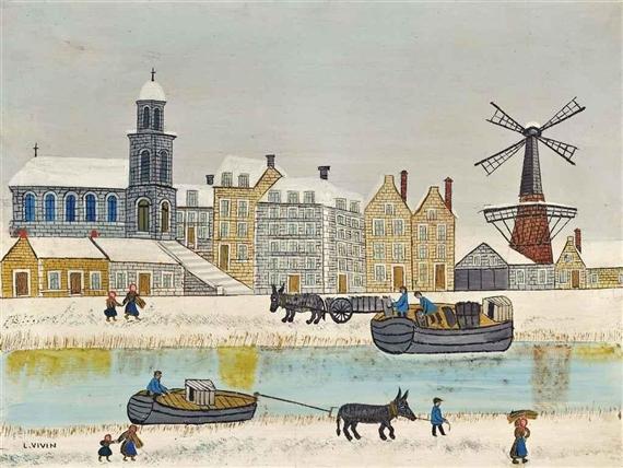 LOUIS VIVIN_ville-au-moulin-pr-s-du-canal-en-hiver