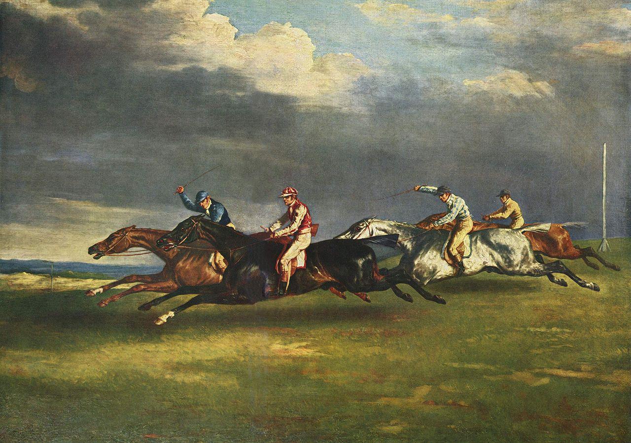 ジェリコー「エプソムの競馬」