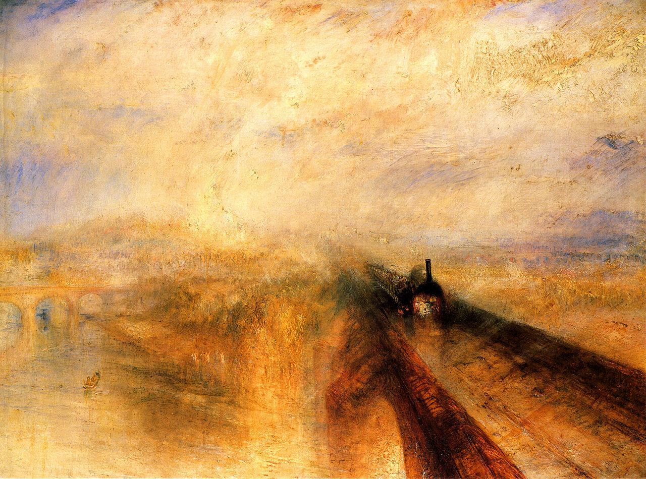 ターナー「雨、蒸気、スピード-グレート・ウェスタン鉄道」