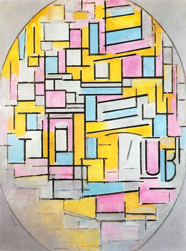Piet Mondrian_composition-with-oval-in-color-planes-ii-1914
